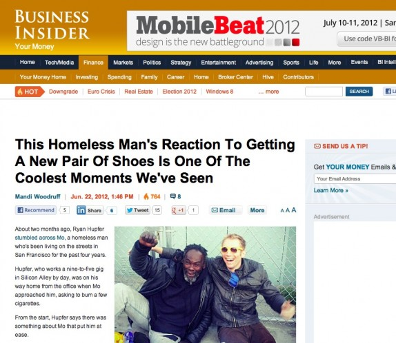 Me and Mo doing our thing on Business Insider