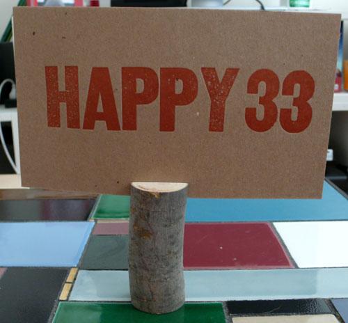 Happy 33!